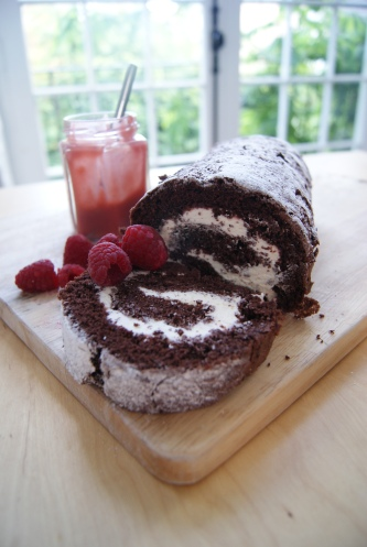 chocolate and raspberry swiss roll-2